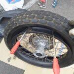 ホンダ FTR223 タイヤ交換をしました。 フロント編