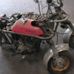 嫁さんに内緒で買ったバイクをばらばらに解体しました。
