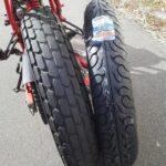 ホンダ FTR223 タイヤ 交換、組み替え バイク
